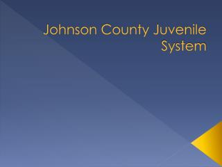 Johnson County Juvenile System