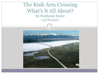 The  Knik  Arm Crossing What's It All About? By Stephanie Kesler 04/16/2007