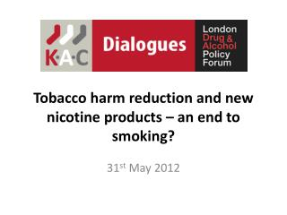 Tobacco  harm reduction and new nicotine products – an end to smoking?