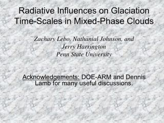 Radiative Influences on Glaciation Time-Scales in Mixed-Phase Clouds