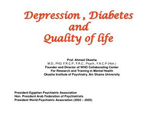 Depression , Diabetes  and Quality of life
