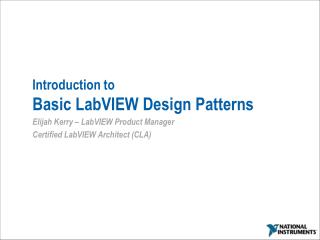 Introduction to Basic LabVIEW Design Patterns