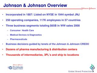 Johnson & Johnson Overview