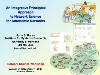 An Integrative Principled Approach  to Network Science  for Autonomic Networks John S. Baras