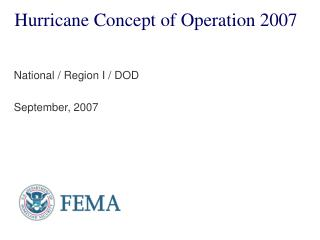 Hurricane Concept of Operation 2007