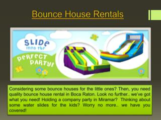 Bounce House Rental Boca Raton