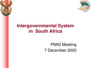 Intergovernmental System            in  South Africa