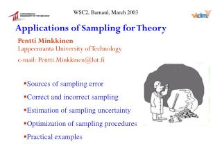 Applications of Sampling for Theory