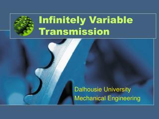 Infinitely Variable Transmission
