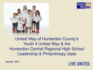 United Way of Hunterdon County's Youth 4 United Way & the