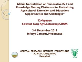 CENTRAL RESEARCH INSTITUTE  FOR DRYLAND AGRICULTURE(CRIDA) Hyderabad