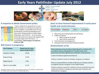 Early Years Pathfinder Update July 2012