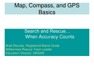 Map, Compass, and GPS Basics