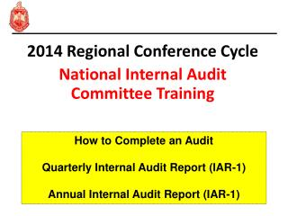 2014 Regional Conference Cycle National Internal Audit Committee Training