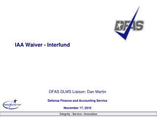 IAA Waiver - Interfund