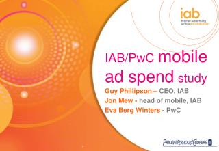 IAB/PwC mobile ad spend study