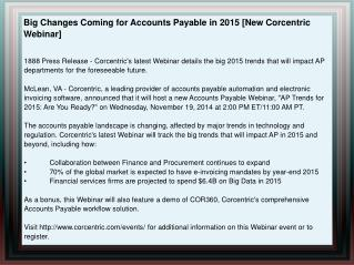 Big Changes Coming for Accounts Payable in 2015