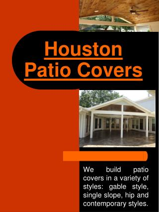 Patio Covers Houston TX