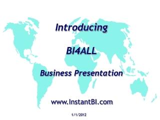 Introducing BI4ALL Business Presentation