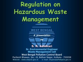 Regulation on Hazardous Waste Management