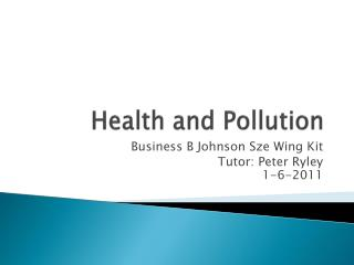 Health and Pollution