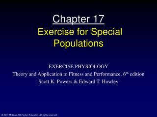 Chapter 17 Exercise for Special Populations