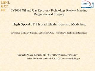 FY2001 Oil and Gas Recovery Technology Review Meeting Diagnostic and Imaging