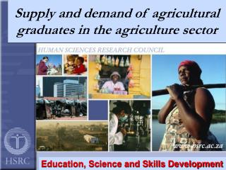 Supply and demand of agricultural graduates in the agriculture sector