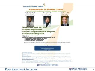 Controversies in Prostate Cancer