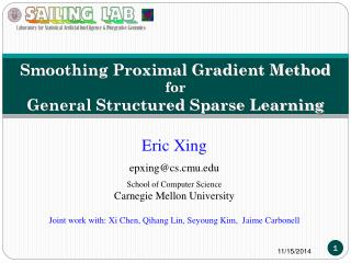 Smoothing  Proximal Gradient Method for  General Structured Sparse Learning