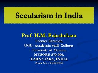 Secularism in India