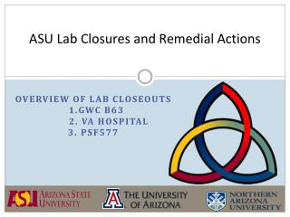 ASU Lab Closures and Remedial Actions