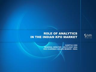 Role of Analytics  in the  indian kpo  market