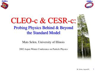 What is CESR-c & CLEO-c