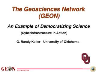 The Geosciences Network  (GEON)