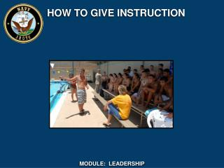 HOW TO GIVE INSTRUCTION