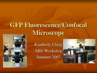 GFP Fluorescence/ Confocal  Microscope