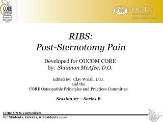 RIBS: Post-Sternotomy Pain