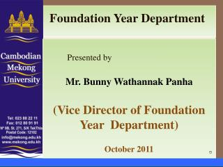 Foundation Year Department