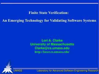 Finite State Verification:  An Emerging Technology for Validating Software Systems
