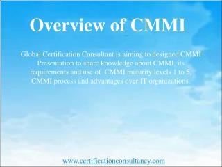 Overview of CMMI