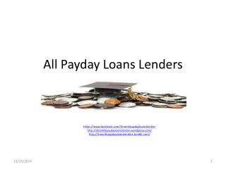All Payday Loans Lenders