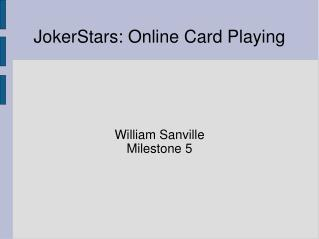 JokerStars: Online Card Playing