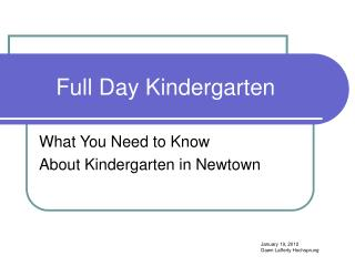 Full Day Kindergarten