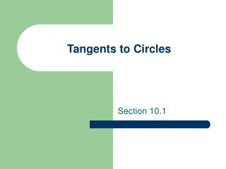 Tangents to Circles