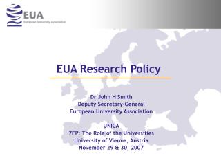 EUA Research Policy