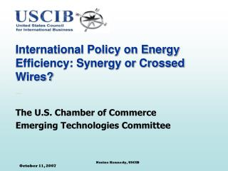 International Policy on Energy Efficiency: Synergy or Crossed Wires?