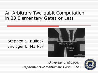 An Arbitrary Two-qubit Computation in 23 Elementary Gates or Less
