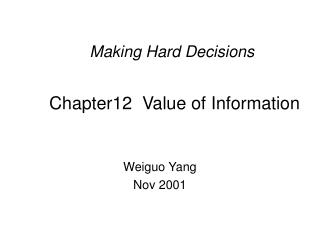 Chapter12  Value of Information