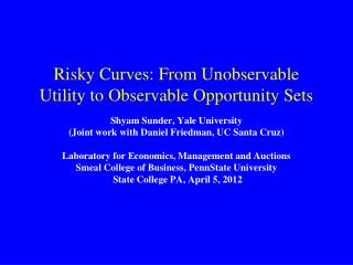 Risky Curves: From Unobservable Utility to Observable Opportunity Sets